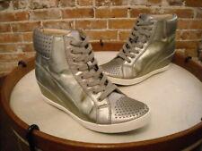 Splendid Helsinki Pewter Leather Studded Wedge Sneaker 9.5 Sale