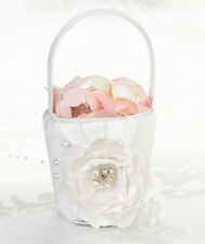 Chic & Shabby Flower Basket Flower Girl Basket Wedding Basket