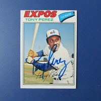TONY PEREZ 1977 O-Pee-Chee # 135  Signed autographed Montreal Expos OPC REDS HOF