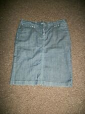 SIZE 12 DOROTHY PERKINS DENIM MINI SKIRT