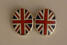 Vintage Longmire Sterling silver enameled Flag cufflinks