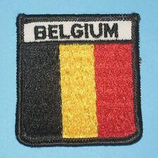 "Belgium Flag / Shield Patch - 2 3/8"" x 2 5/8"""