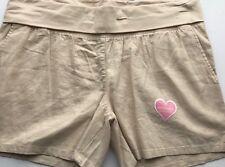 NWT Great Expectations Maternity Tan Linen Short Sz XXL 20 Short Fit to Flatter