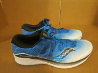 MENS SAUCONY EVERUN RIDE ISO BLUE WHITE BLACK RUNNING SHOES SIZE 14M A480