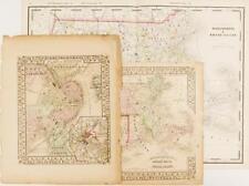 Maps of Massachusetts & Boston (3) Lot 2457
