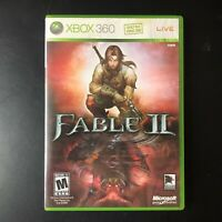 Fable II Video Game (Microsoft XBox 360, 2008) Complete in Box CIB & Tested