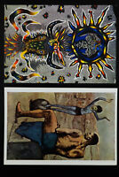 Worldwide Lot of 7 Famous Paintings on Postcards