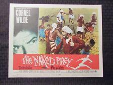 1965 THE NAKED PREY Original 14x11 Lobby Card #1-8 VG/VG+ SET of 8