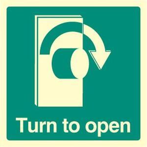 Zeichen Turn To Offen Rechts Leuchtende Persönlich Schutz & Seite Sicherheit