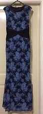 Lace Maxi Dress Size 14 Blue