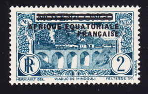 FRENCH EQUATORIAL AFRICA   SCOTT# 12  MH VIADUCT