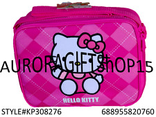 """Sanrio Hello Kitty Fullbody Square 9"""" Canvas Pink Grils Lunch Bag/Box-0760"""