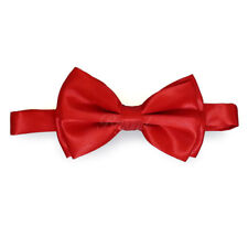Red Bow Tie Adjustable Pre-tied Clip-on  Bow Tie Necktie Ties