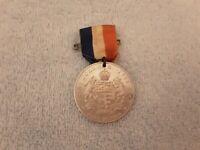 Original 1952 Queen Elizabeth Coronation Saint Johns Canada Medal & Ribbon