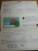Union 76 Expired Credit Card 1984 Expire Date With Original Mailer