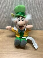Disney Alice In Wonderland Mad Hatter Rare  Plush Soft Toy 9 Inch Collectable