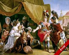 DARIUS FAMILYBEFORE ALEXANDER THE GREAT PAINTING HISTORY ART REAL CANVAS PRINT