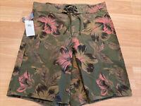 RRL Ralph Lauren Military Floral Hawaiian Swim Trunks Board Shorts S 28 $295 New