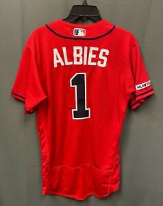 Ozzie Albies 2019 Game Used Atlanta Braves #1 Jersey Sz 40 MLB Hologram