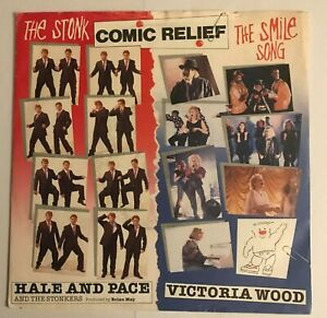 """Hale and Pace - """"The Stonk""""  7"""" (1991) VG+ / Victoria Wood - """"Smile Song"""" / LOG8"""