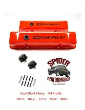 59-64 Impala Bel Air Biscayne small block cast tall valve cover kit orange black