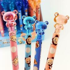 4x Cute Cartoon Bear Crystal Mechanical Automatic Pencil For Children Stationery