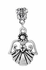 Angel Cross Heart Christmas Holiday Dangle Charm fits European Bead Bracelets