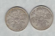 More details for two 1915 & 1916 george v silver florins in fine or better condition
