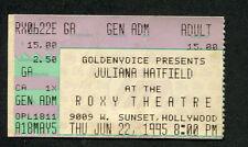 1995 Juliana Hatfield Concert Ticket Stub Roxy Theatre Only Everything