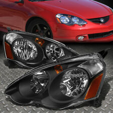 FOR 02-04 ACURA RSX BLACK HOUSING AMBER CORNER HEADLIGHT REPLACEMENT HEAD LAMPS