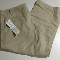 First Issue a Liz Claiborne Co Womens Beige Crop Dress Pants Size 12 Stretch NWT