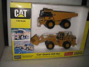 CAT 1/64 CATERPILLAR QUARRY GIFT SET 775E TRUCK  & 998G LOADER #55103  OLD STOCK