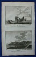 Original antique print TYNEMOUTH PRIORY & CASTLE, NORTHUMBERLAND, BOSWELL, 1786