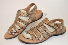 Vionic Leather Easy On Gladiator Sandal Harissa Snake Womens Size 8.5 40 TVW5482