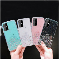 For Samsung S20/S10/S9/A51/A70/A20e/A71 GLITTER BLING Shockproof TPU Case Cover