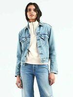 New Levis Womens Made & Crafted Japan Boyfriend Jean Denim Trucker Jacket M,L