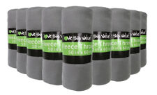 24 Pack Soft Warm Fleece Blanket or Throw Blanket - 50 x 60 Inch Grey