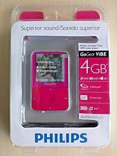 "Philips GoGear 4 GB ViBE Pink MP3 Video Player 1.5"" Screen New NIP Sealed"