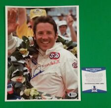 "MARIO ANDRETTI SIGNED 8""X 10"" PHOTO BAS BECKETT AUTHENTICATED COA -RACING LEGEND"