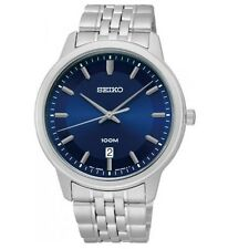 Seiko Neo Classic SUR029 P1 Silver Blue Face Analog Men's Quartz Watch