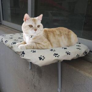 Cat Window Perch Seat Sunny Kitty Window Sill Shelf With Fleece Foam Cushion