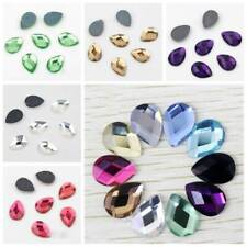 10~25mm Flatback Teardrop Crystal Glass Faceted Cabochons Rhinestones Craft Lot