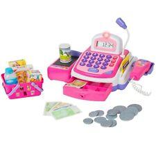 Kids Simulation Cash Register Calculator Cashier&Sounds Pretend Play Toy Sets