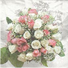 2 Serviettes en papier Bouquet Mariage Decoupage Paper Napkins Wedding