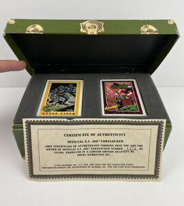 1991 Impel Official G.I. JOE Footlocker Trading Card Set * Limited Edition W/COA