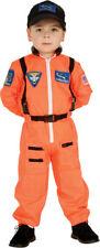 Morris Costumes Boys Long Sleeve Astronaut Costume Straps Orange 4-6. RU882700SM