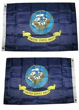 2X3 U.S. Navy Ship 2 Faced 2-ply Wind Resistant Flag grommets