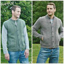 Knitting Pattern Mens Waistcoat & Jacket Sidepockets Alfresco Aran Twilleys 9207
