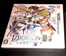 Nintendo 3DS 7th / Seventh Dragon III code VFD New Japanesre Video Game Sega