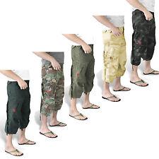 Surplus Hombre Ingeniero Vintage 3/4 Pantalones Cortos Pantalón Cargo Bw Army